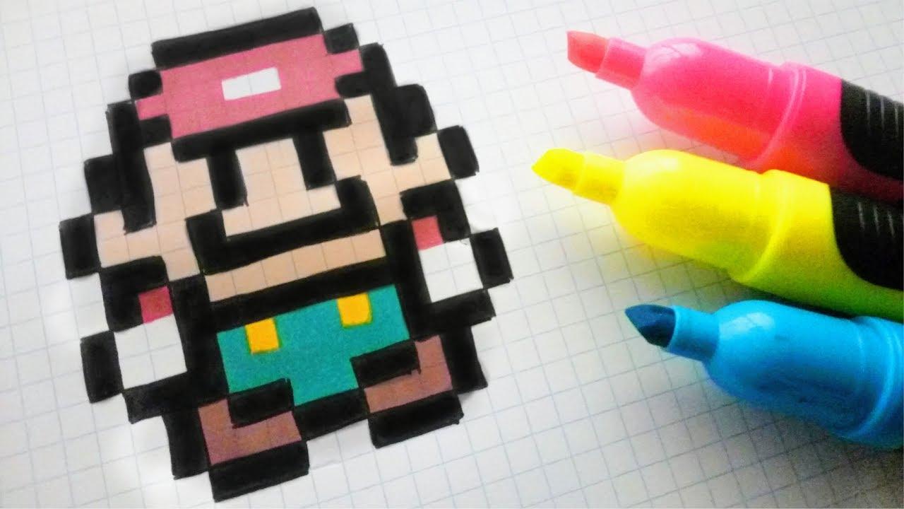 Handmade Pixel Art How To Draw A Super Mario Bros Pixelart