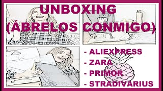 UNBOXING ALIEXPRESS, ZARA, PRIMOR, STRADIVARIUS  (HAUL VARIADO, MODA, BELLEZA Y COMPLEMENTOS)