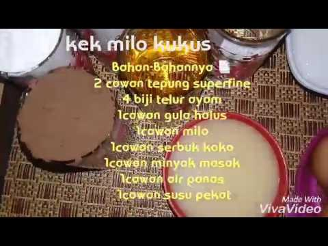 Kek Milo Kukus Hanya Pukul Dgn Sudu Sahaja Youtube