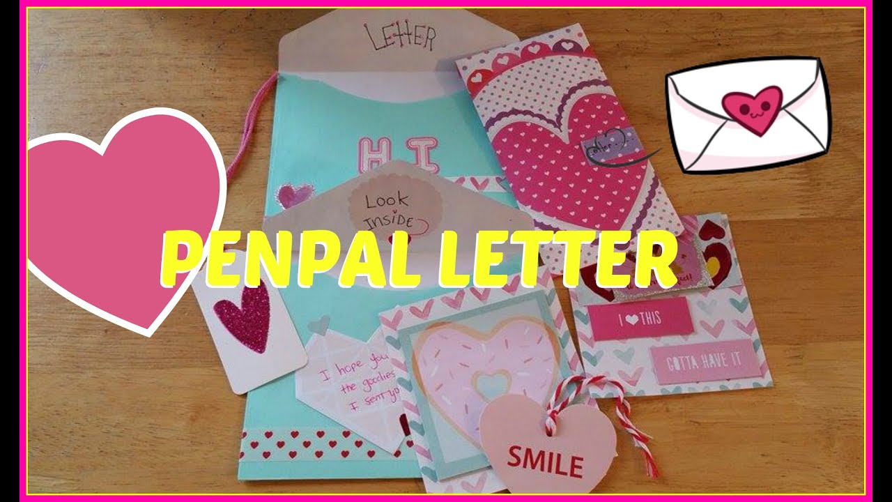 Valentines Day Pen Pal Letter Ideas  Outgoing Friend Mail  YouTube
