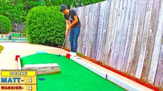 INSANE HOLE IN ONE BANK SHOTS! Mini Golf: Let