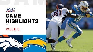 Broncos vs. Chargers Week 5 Highlights | NFL 2019