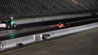 Drag Racing Tesla Roadster (4 in a row)