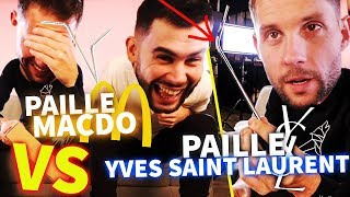 Paille McDo VS paille la plus chère du monde ! (ft. Morgan VS)