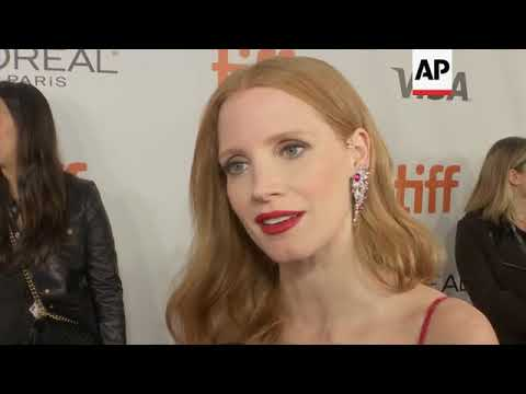 Jessica Chastain at world premiere of 'Woman Walks Ahead;' hopes film will 'plant a seed of inspirat