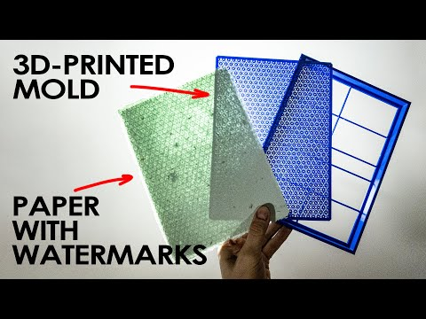 Making Paper with Watermarks with a 3D-Printed Mould