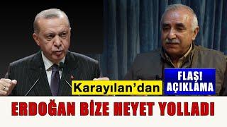 Flaş açıklama; Erdoğan bize bir heyet yolladı.
