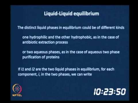 Liquid/Liquid and Solid/Liquid Equilibria