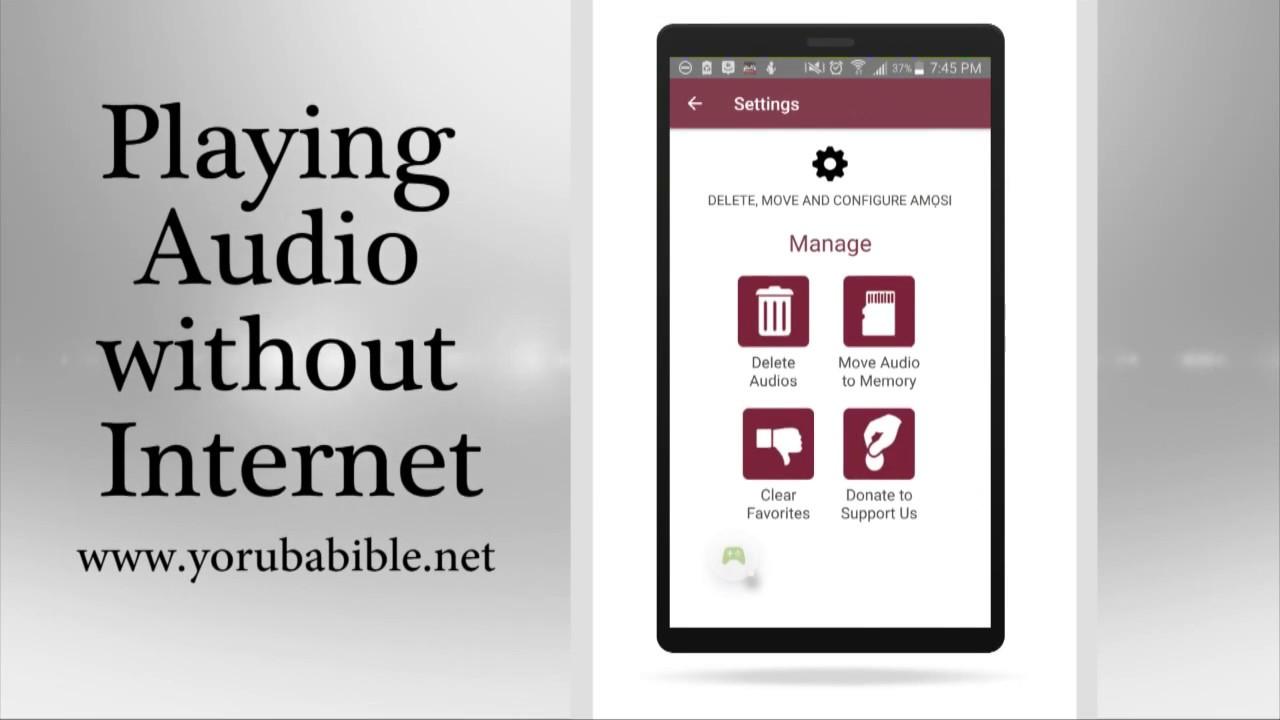 Yoruba Audio Bible - Listen to Yoruba Audio Bible without Internet