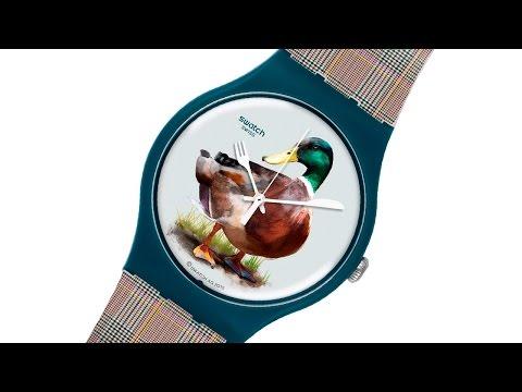 Часы Swatch с уткой