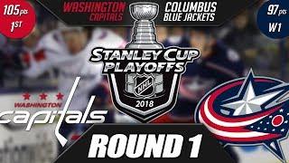 Washington Capitals  vs Columbus Blue Jackets - Round 1 Playoff Preview
