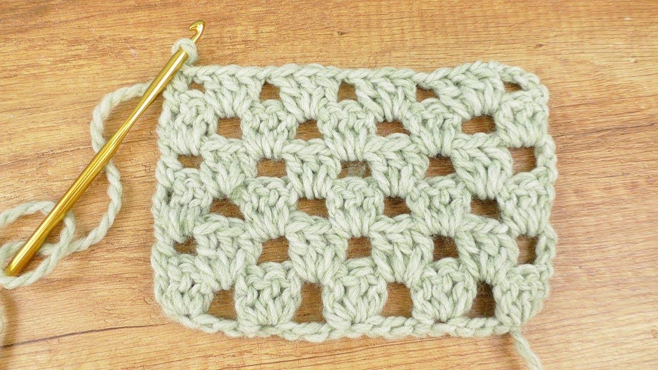 Granny Style Häkeln In Reihen Super Einfaches Schnelles Muster