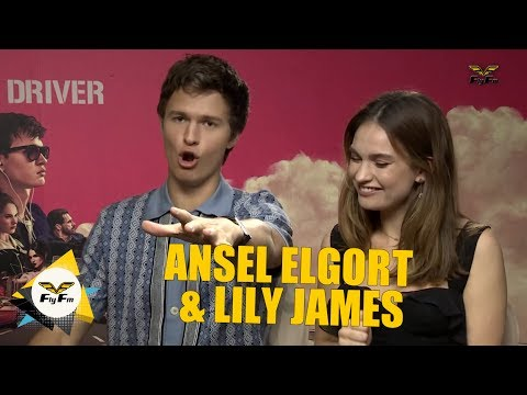 #Hafiz&Guibo interviews Ansel Elgort and Lily James for Baby Driver