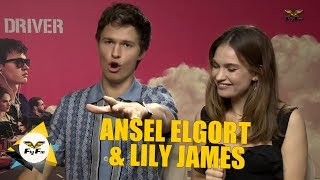 #HafizGuibo interviews Ansel Elgort and Lily James for Baby Driver