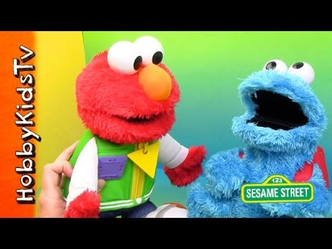 Elmo and cookie monster singing abc 123 toy review by for Elmo abc