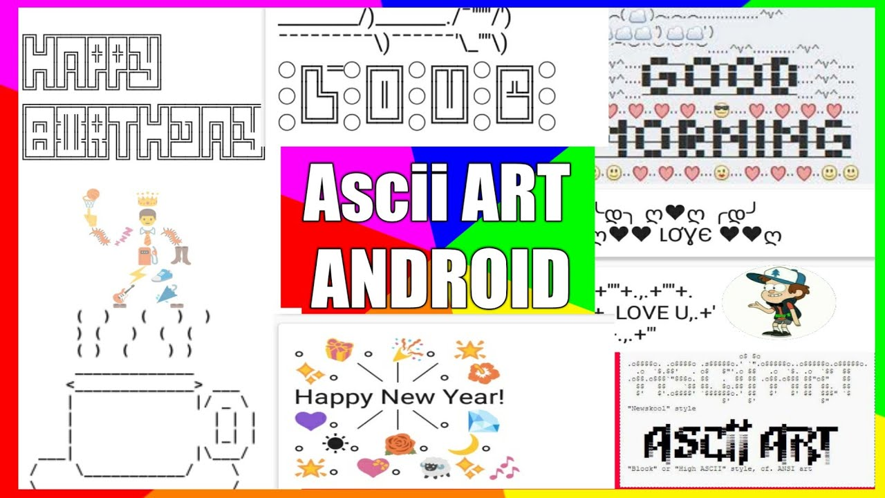 How to Create & Generate ASCII Art in your Android! Cool WhatsApp Message  Creator App Review 2017