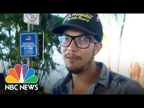 People in Hawaii react to false missile alert | NBC News