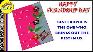 Friendship Day Card Making - Greeting Card for Friend - Happy Friendship Day