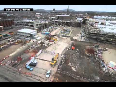 Hereford Old Market Construction Timelapse