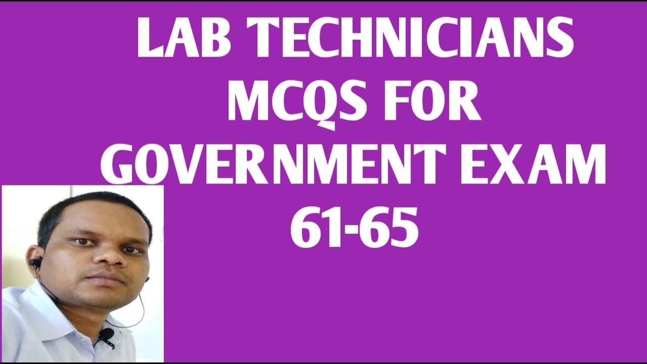 MCQS for Lab Technician government exam 61-65