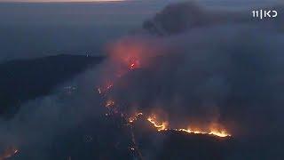 אש ותמרות עשן: 11 הרוגים בשריפות ענק בקליפורניה