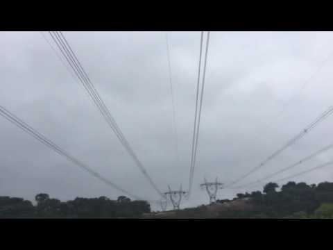 Noise of corona discharge from high voltage power line
