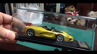 Unboxing modelcar Ferrari LaFerrari Aperta Looksmart 1/43
