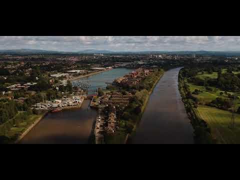 River Ribble, Preston, Lancashire by Drone
