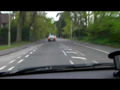Driving across Fleet Hampshire UK