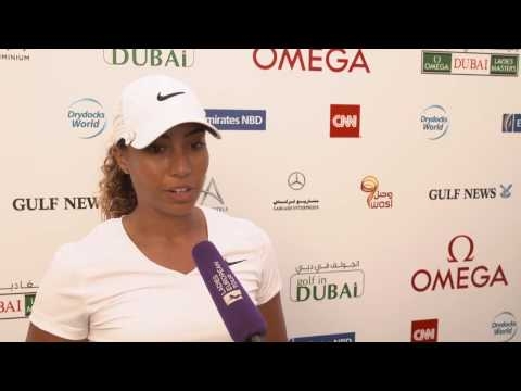 Cheyenne Woods Interview Day 1 | Omega Dubai Ladies Masters 2016