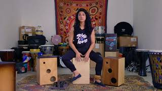 Mona Tavakoli Cajon Lesson For DRUM! Magazine