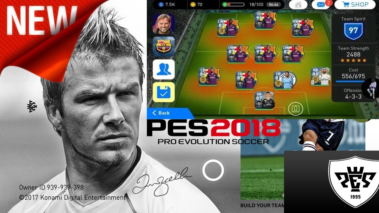 Download New Patch Pes 2018 mobile Best Patch For v 2 3 3