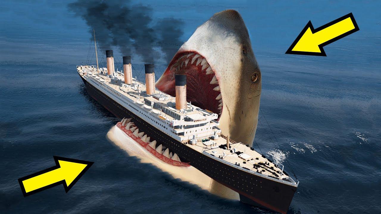 GTA 5 MEGALODON ATTACK TITANIC MOVIE (TITANIC SINKING AND ...