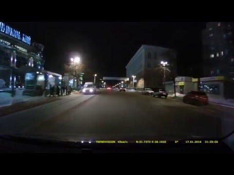 TrendVision TDR-708GP видео тест (прошивка со спидкамом) резкость 0