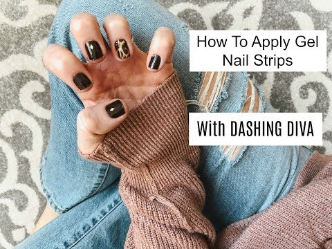 How To Apply Gel Nail Strips With Dashing Diva