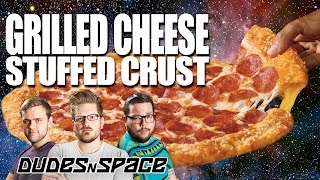 Pizza Hut Grilled Cheese Stuffed Crust - Fast Food Review - Dudes N Space