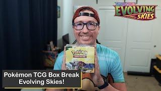 Pokémon Sword & Shield Evolving Skies Booster Box Break! Great Pulls Here!