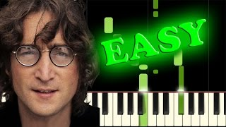 Video THE BEATLES - IN MY LIFE - Easy Piano Tutorial download MP3, 3GP, MP4, WEBM, AVI, FLV November 2018