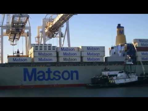 Bay Area Container Ship Spotting - Matson Lines Matsonia and Manoa at Oakland  June 17, 2013