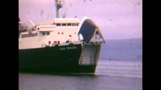 MV Ailsa Princess leaving Stranraer 1971