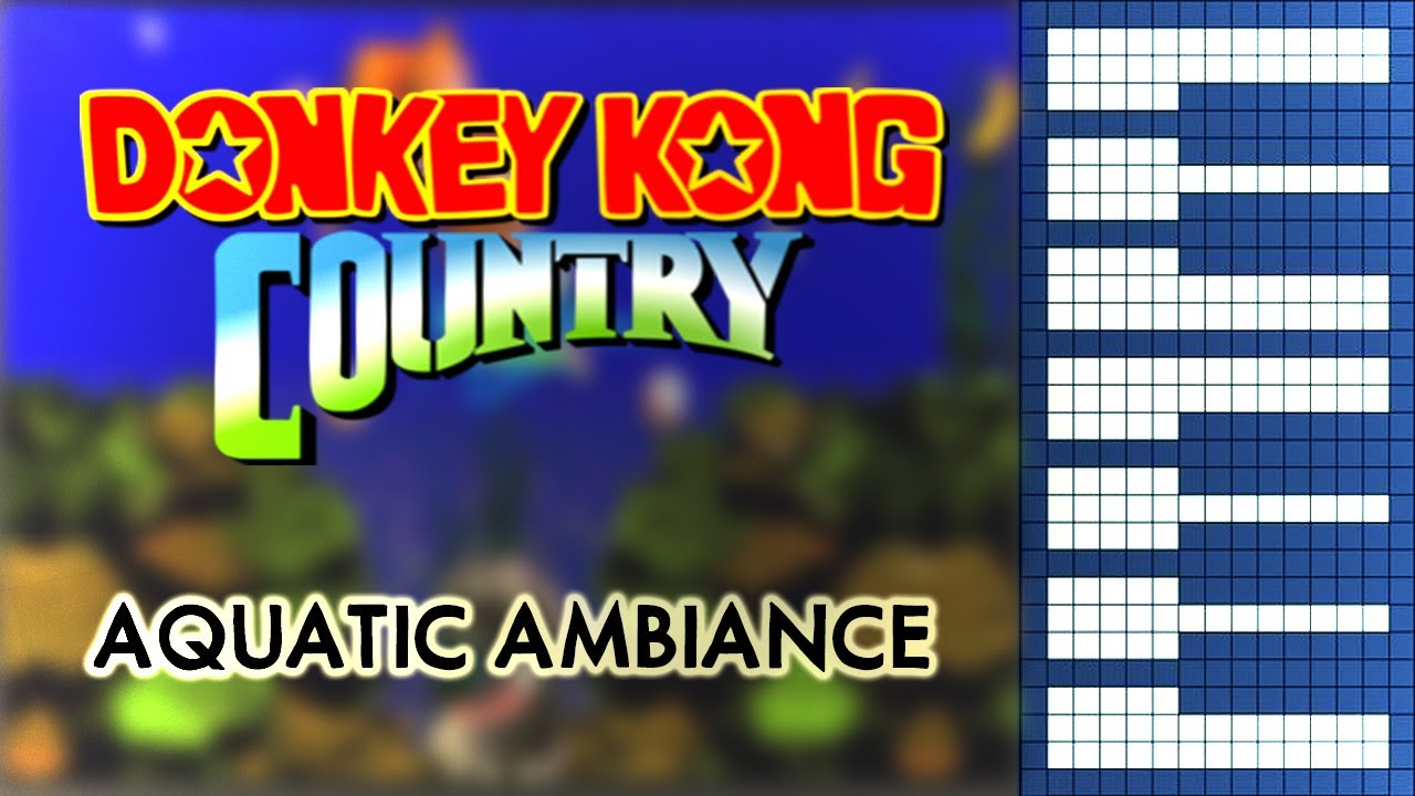 Donkey Kong Country OST - Aquatic Ambiance [HQ Piano Cover]