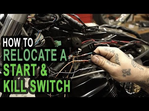 How To Relocate A Start & Kill Switch On Your Honda Shadow Build