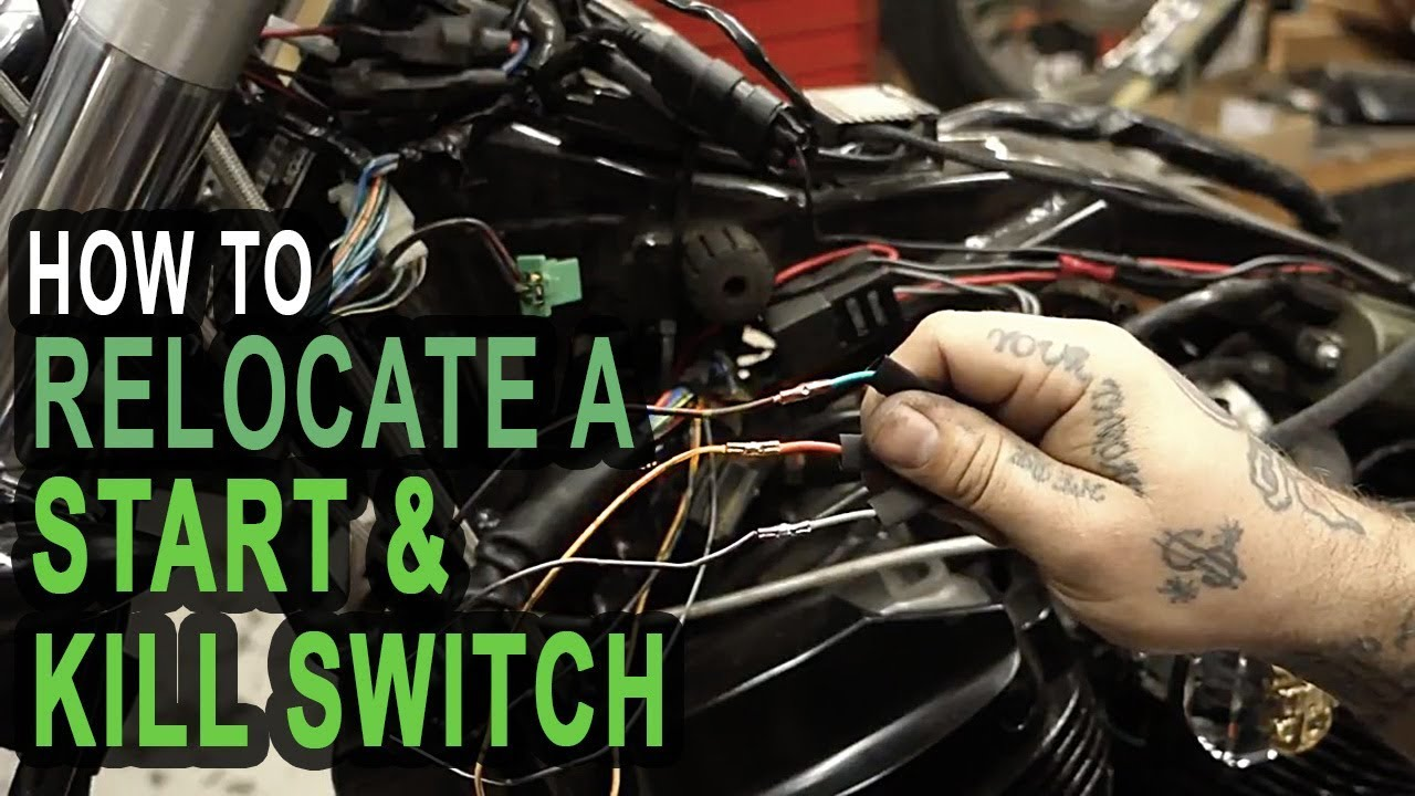hight resolution of how to relocate a start kill switch on your honda shadow build