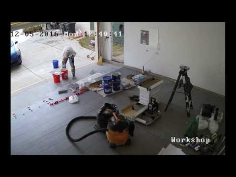 Installing Porcelain Tile in a Garage