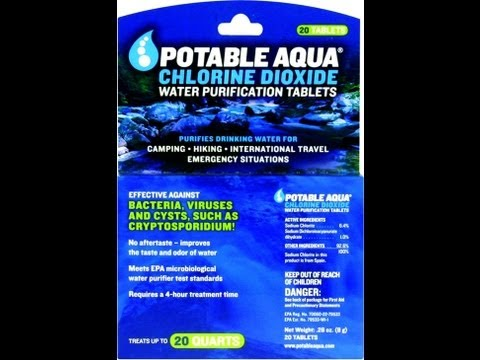 Potable Aqua Chlorine Dioxide Tablet Review