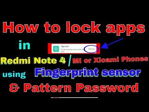How To Setup App Lock In Xiaomi Redmi Note 4G