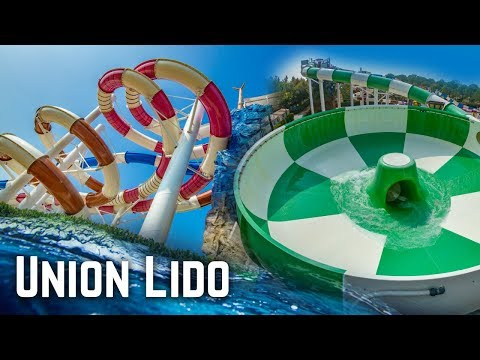 ALL WATER SLIDES | Aqua Park Laguna at Union Lido, Italy