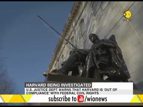 Harvard University being investigated over alleged race-based admission