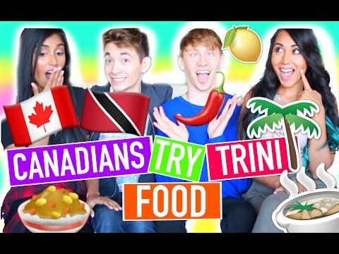 Canadians Try Trini Food | Paris & Roxy