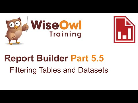 Report Builder 2016 Part 5.5 - Filtering Tables And Datasets